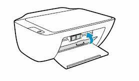 Impresora HP DeskJet cierre la puerta de acceso a los cartuchos de tinta