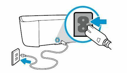 Impresora HP DeskJet conecte el cable de alimentacion