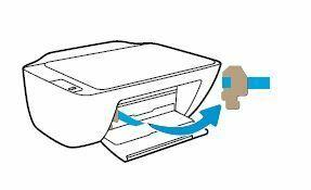 Impresora HP DeskJet retire la cinta y los materiales de embalaje