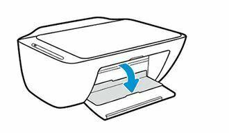 abra la puerta de acceso a los cartuchos de tinta hp deskjet 2600