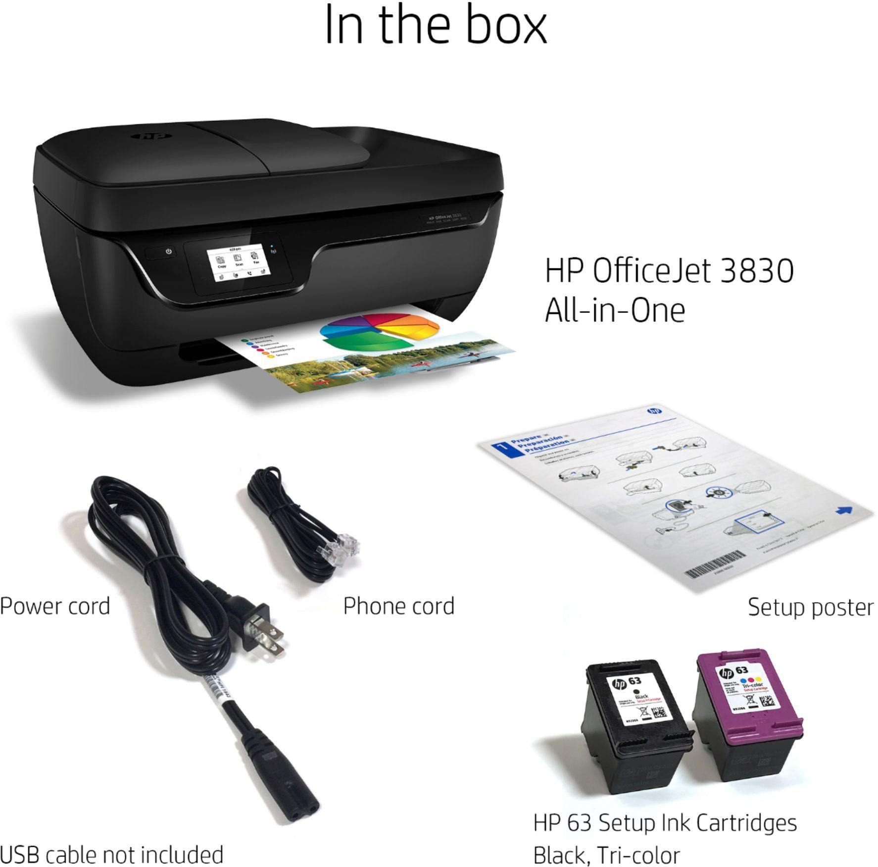 HP OfficeJet 3830 dentro de la caja