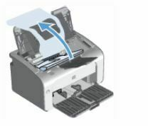 abrir puerta de cartuchos de impresion HP LaserJet P1108