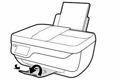 baje la charola de papel impresora HP officejet 3830