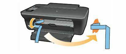 baje la compuerta de cartuchos HP DeskJet 1050