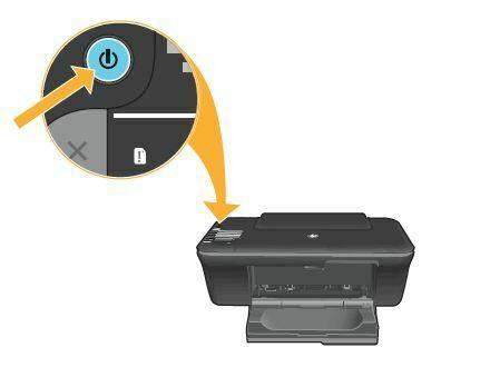encienda la impresora HP DeskJet 1050