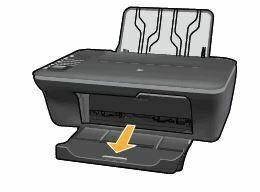 extienda la charola de salida HP DeskJet 1050