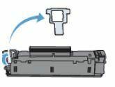 extraiga el protector naranja HP LaserJet P1108