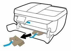 extraiga la cinta y material de embalaje OfficeJet 3830