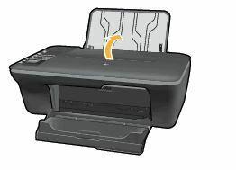 Cargar papel en una HP Deskjet 1050