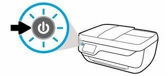 presione el boton de encendido hp officejet 3830