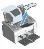 quitar embalaje de cartucho de impresion HP LaserJet P1108