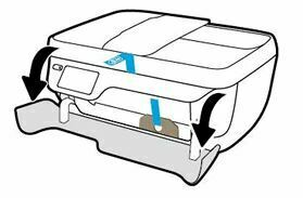 retire la cinta y luego abra la puerta exterior OfficeJet 3830