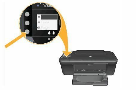 seleccione el idioma de su impresora HP DeskJet 1050