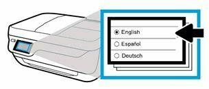 seleccione el idioma hp officejet 3830