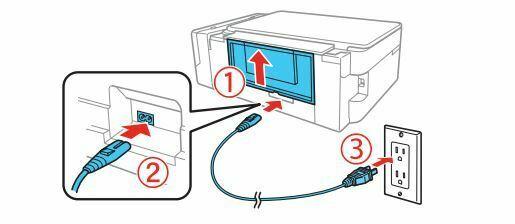 Impresora epson ET-2650 conecte a la alimentacion