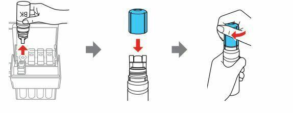 impresora Epson L3110 tapa la botella