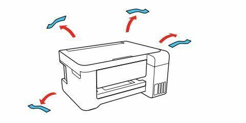 impresora Epson L4150 RETIRE TODO EL MATERIAL DE EMBALAJE