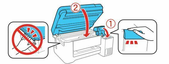 impresora Epson L4150 cierre la cubierta