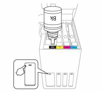 impresora Epson L4150 vierta la tinta en la impresora
