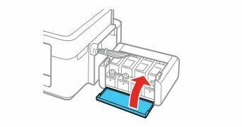 Epson L380 cierre tapa unidad de tinta