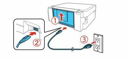 Epson L380 conectar al cable de alimentacion