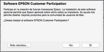Epson L355 por WiFi desea continuar