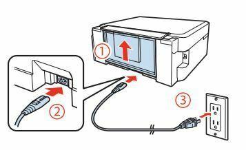 Impresora Epson L355 conecte y encienda