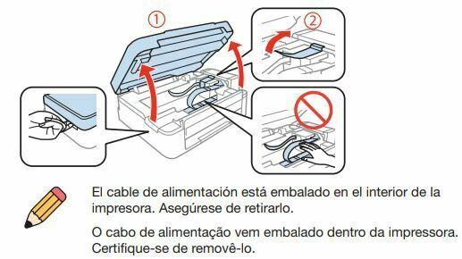 Impresora Epson L355 retire embalaje