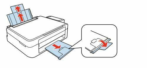 Epson L210 cargar papel