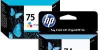 Que Impresora HP usa cartuchos 74 y 75