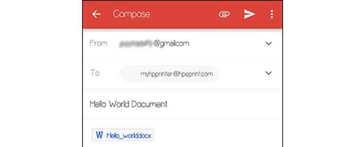 Escriba un asunto en la línea correspondiente del correo electrónico y luego toque Enviar